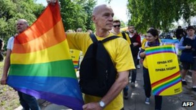 Ukraine stages first gay pride march