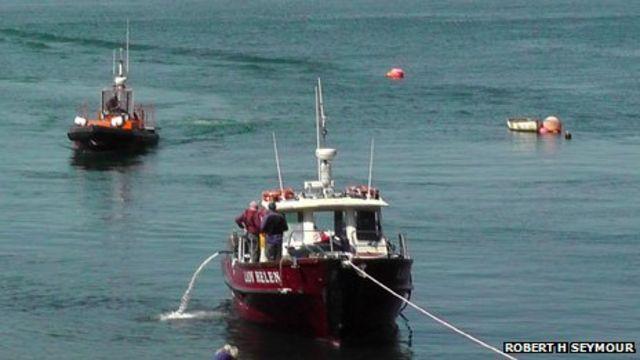 48 people rescued from sinking boat near Skomer Island