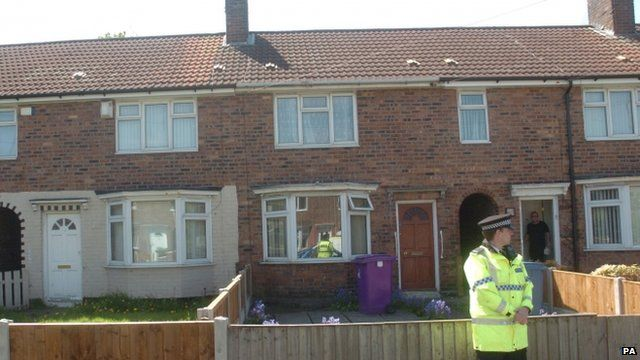 The house in Liverpool where the man was found