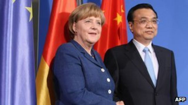 German Chancellor moves to cool EU-China trade dispute