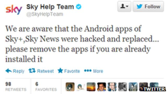 Sky apps defaced by Syrian Electronic Army hackers