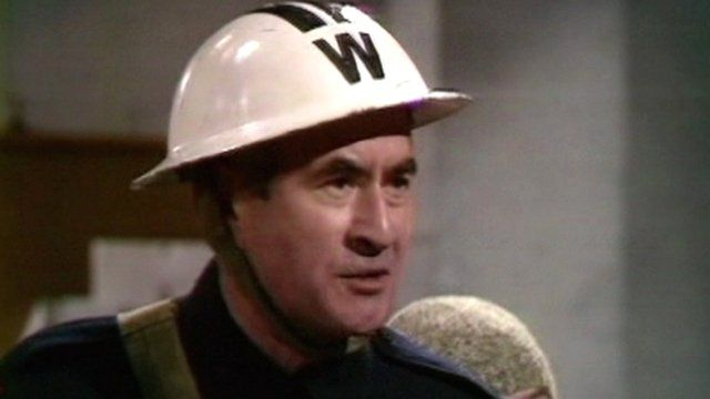 Bill Pertwee playing Warden Hodges in an episode of Dad's Army