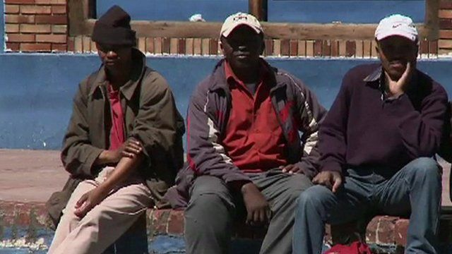 Unemployed men in SA