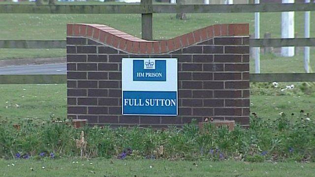 Sign outside Full Sutton Prison