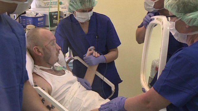 Transplant patient shown new face