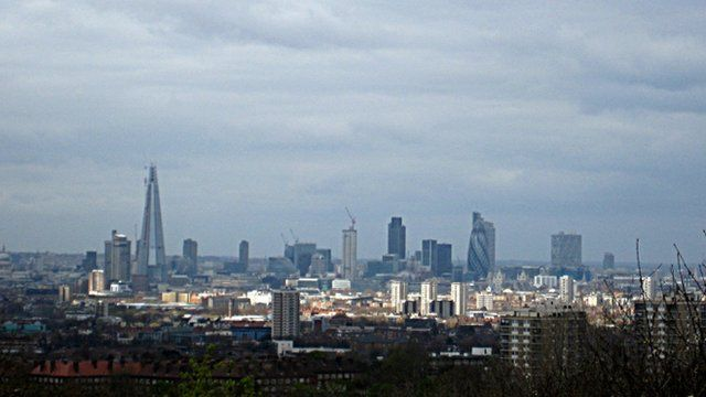 General view of the skyline of London