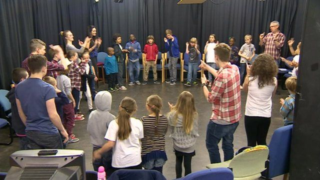 Young people at the Television Workshop