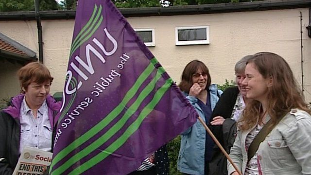 Southern Health NHS care workers protesting