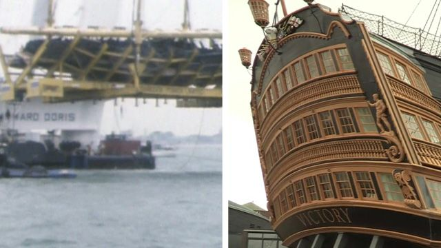 Mary Rose in 1982 and today