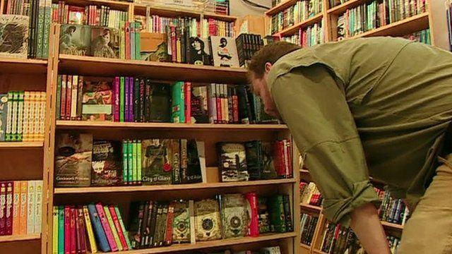 Man in bookshop