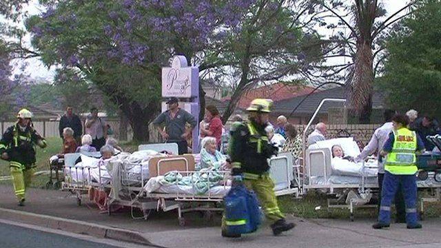 Australian nursing home evacuated because of fire