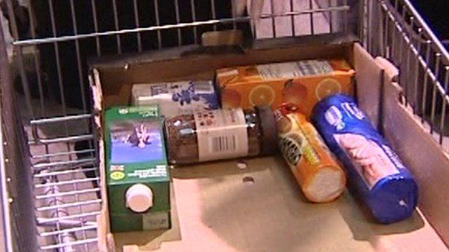Oxfordshire food bank staff prepare food parcels