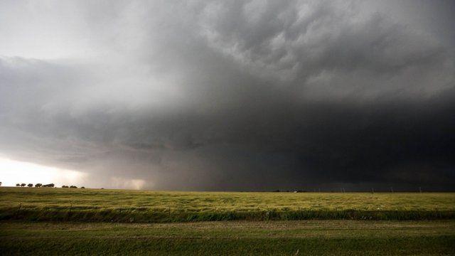 A mile-wide tornado is seen near El Reno, Oklahoma May 31, 2013