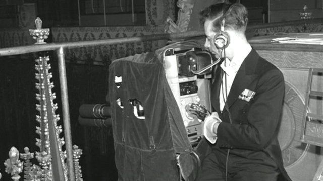 Camera man in Westminster Abbey