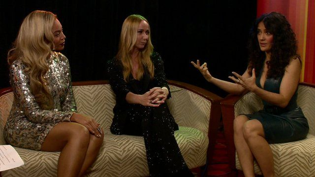 Beyonce, Frida Giannini and Salma Hayek on the Andrew Marr Show