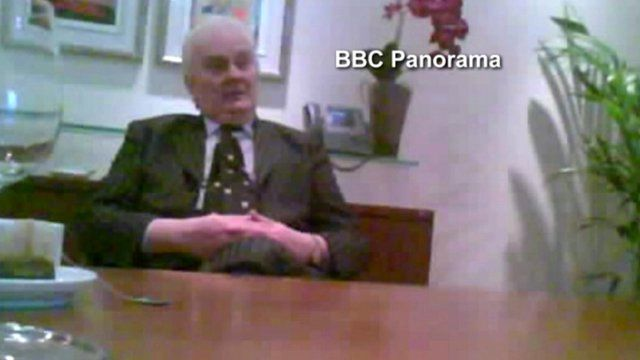 Lord Laird filmed by the Panorama undercover team