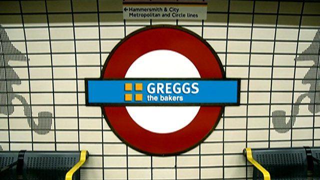Mock-up of Tube sponsorship