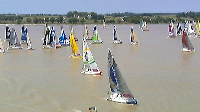 La Solitaire du Figaro single-handed race set off from Bordeaux