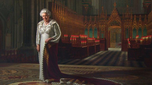 A new portrait of the Queen, inside Westminster Abbey