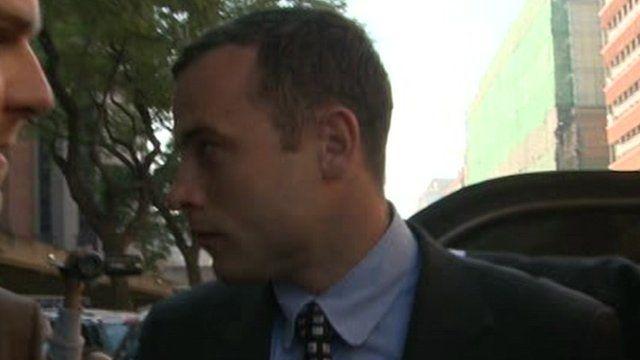 Oscar Pistorius arrives at court