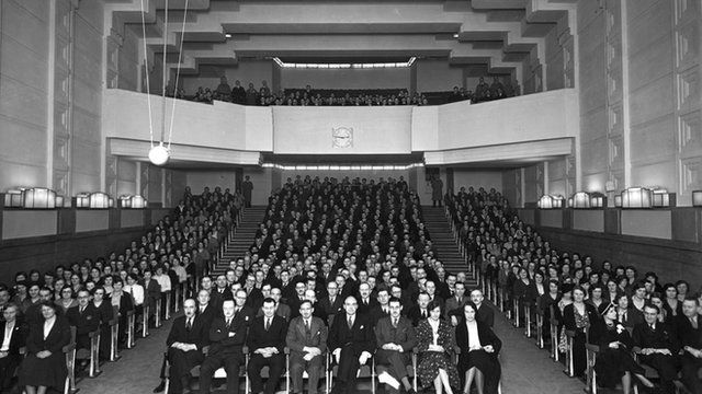 General meeting of the staff at Broadcasting House