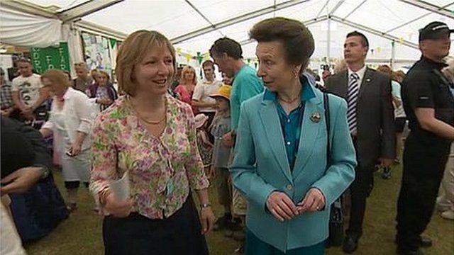 Princess Royal at the Royal Cornwall Show