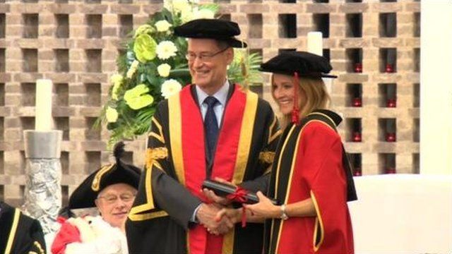 Gabby Logan installed as the first Chancellor of Leeds Trinity University