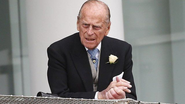 Duke of Edinburgh attending the Epsom Derby on 1 June
