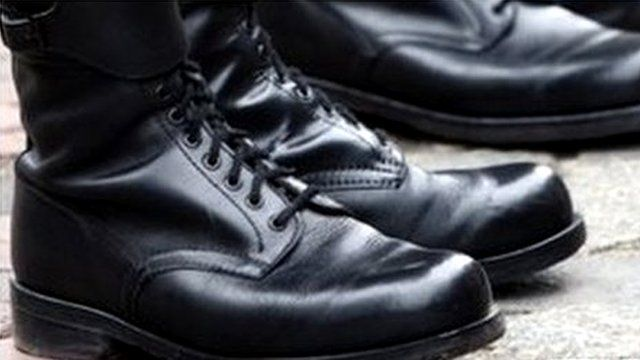 A pair of military boots
