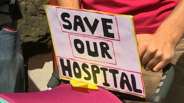 Save our hospital campaign poster