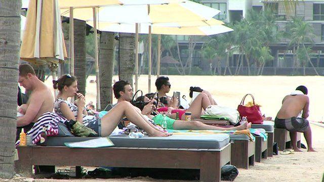 A Singapore beach