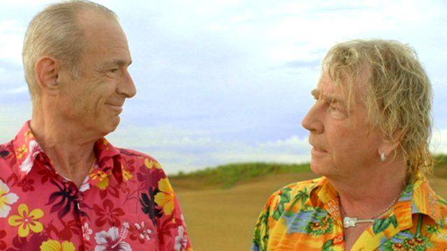 Francis Rossi (left) and Rick Parfitt in Bula Quo