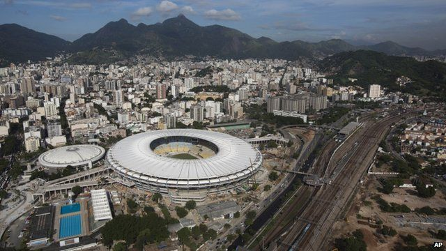 View of Rio's Maracana stadium