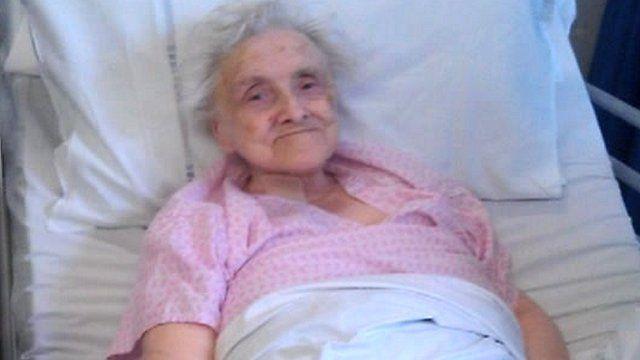Joan Parker in Milton Keynes Hospital