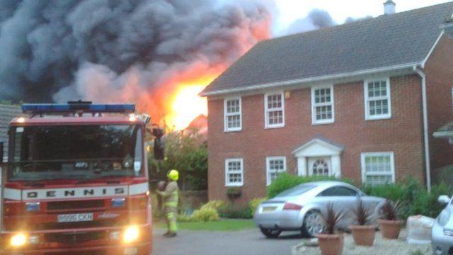 Faversham laundry fire