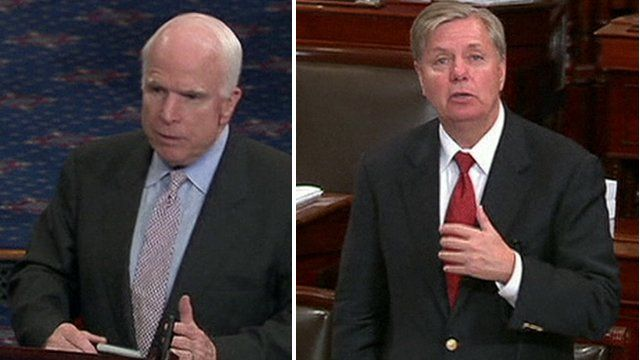 Senators John McCain and Lindsey Graham