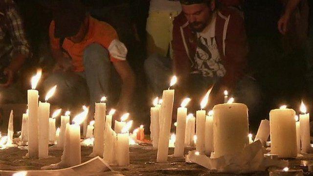 Candles lit in Gezi Park