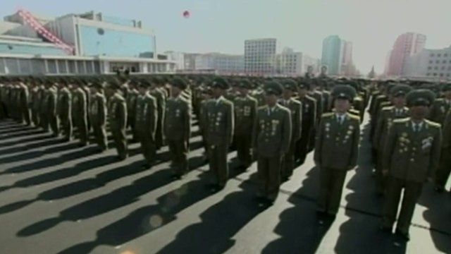 North Korean service people