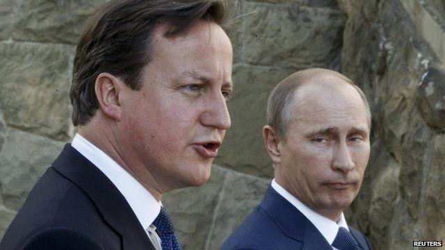 David Cameron, Vladimir Putin