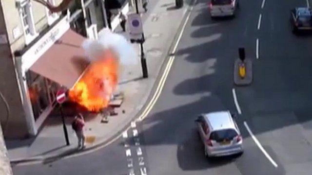 Pavement explosion in Pimlico