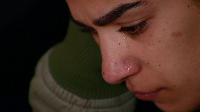 Person crying