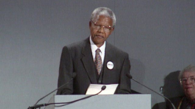 Nelson Mandela thanks the people of Glasgow for their support during his imprisonment.