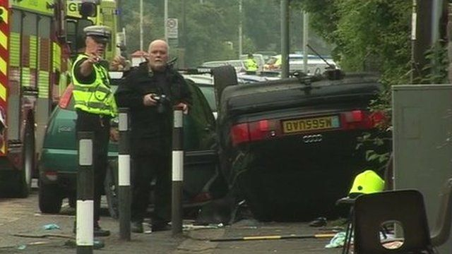 Scene from the crash