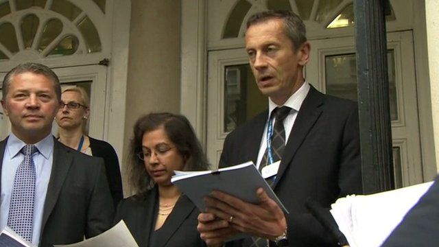 Detective Chief Inspector Mark Ling and Portia Ragnauth from the CPS