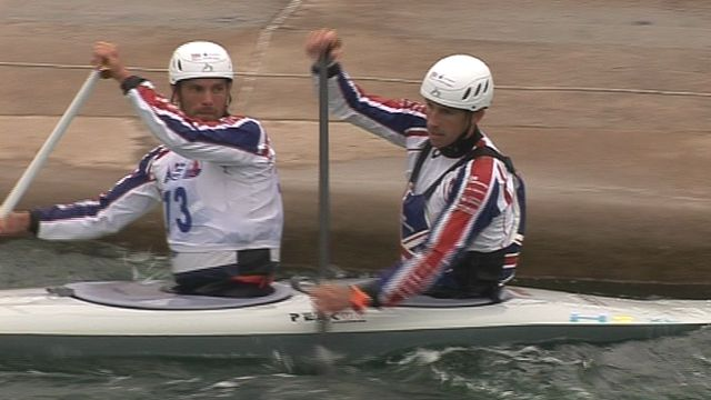 Olympic gold medallists Tim Baillie and Etienne Stott