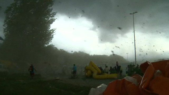 Storm hits a festival in Switzerland