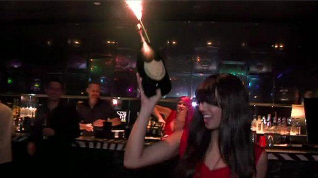 Woman in nightclub