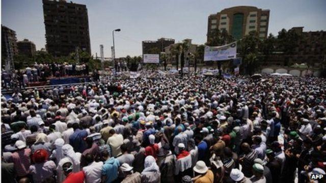 Mass rally in Egypt for President Mohammed Morsi