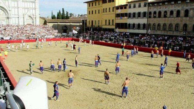 A game of Calcio Storico Fiorentino