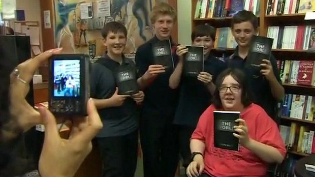 Joseph Wills at St Neots book signing